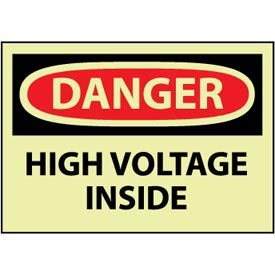 Machine Labels - Glow - Danger High Voltage Inside
