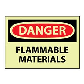 Glow Danger Rigid Plastic - Flammable Material