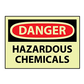 Glow Danger Rigid Plastic - Hazardous Chemicals