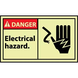 Machine Labels - Glow - Danger Electrical Hazard