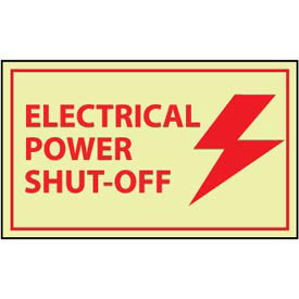 Graphic Machine Glow Labels - Electrical Power Shut-Off