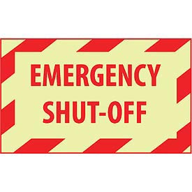 Graphic Machine Glow Labels - Emergency Shut-Off