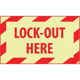 Graphic Machine Glow Labels - Lock-Out Here