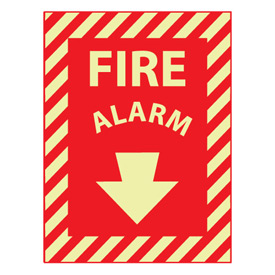 Glow Sign Rigid Plastic 12x9 - Fire Alarm