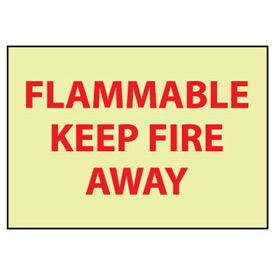 Glow Sign Rigid Plastic - Flammable Keep Away