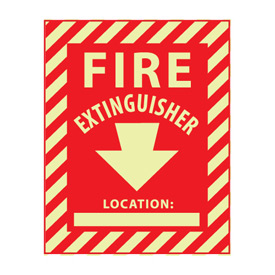 Glow Sign Rigid Plastic - Fire Extinguisher Location