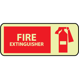 Glow Sign Rigid Plastic - Fire Extinguisher Graphic