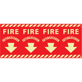 Glow Sign Vinyl - Fire Extinguisher Column Marker