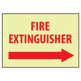 Glow Sign Vinyl - Fire Extinguisher Right Arrow
