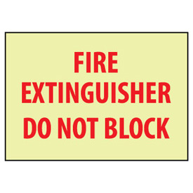 Glow Sign Rigid Plastic - Fire Extinguisher Do Not Block
