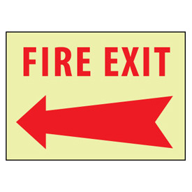 Glow Sign Rigid Plastic - Left Arrow