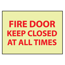 Glow Sign Vinyl - Fire Door Keep Closed