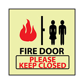 Glow Sign Vinyl - Fire Please Keep Closed