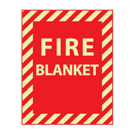 Glow Sign Rigid Plastic - Fire Blanket