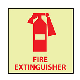 Glow Sign Rigid Plastic - Fire Extinguisher