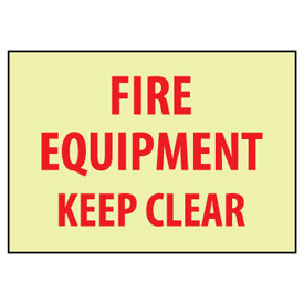 Glow Sign Rigid Plastic - Fire Equipment