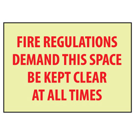 Glow Sign Rigid Plastic - Fire Regulations