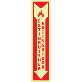 Glow Sign Vinyl - Fire Extinguisher Bilingual