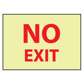 Glow Sign Rigid Plastic 10x14 - No Exit