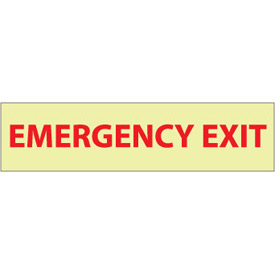 Glow Sign Rigid Plastic - Emergency Exit
