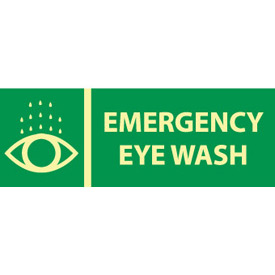 Glow Sign Rigid Plastic - Emergency Eye Wash