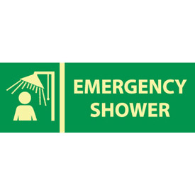 Glow Sign Vinyl - Emergency Shower