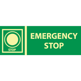 Glow Sign Vinyl - Emergency Stop