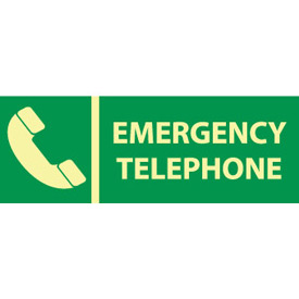Glow Sign Rigid Plastic - Emergency Telephone