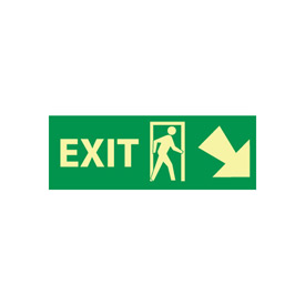 Glow Sign Rigid Plastic - 5X14(w/ Door And Right Down Arrow)