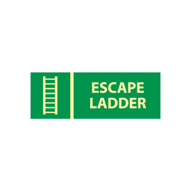 Glow Sign Vinyl - Escape Ladder