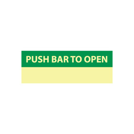 Glow Sign Rigid Plastic - Push Bar To Open