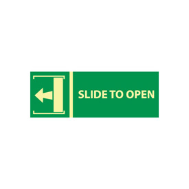 Glow Sign Rigid Plastic - Slide To Open(w/ Left Arrow)