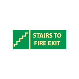 Glow Sign Rigid Plastic - Stairs To Exit