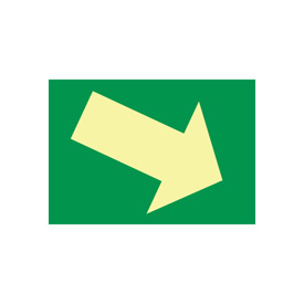 Glow Sign Vinyl - Arrow Diagonal