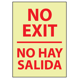 Glow Sign Rigid Plastic - No Exit/No Hay Salida Bilingual