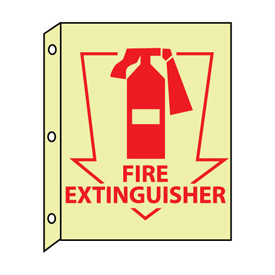 3D Glow Sign Plastic - Fire Extinguisher