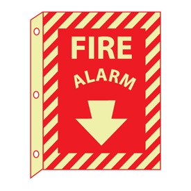 3D Glow Sign Plastic - Fire Alarm