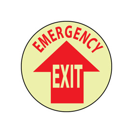Glow Floor Sign - Emergency Exit