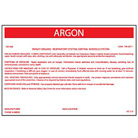 HazMat Container Label - Argon