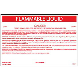 HazMat Container Label - Flammable Liquid