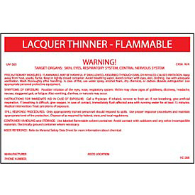HazMat Container Label - Lacquer Thinner-Flammable