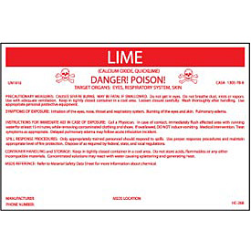 HazMat Container Label - Lime