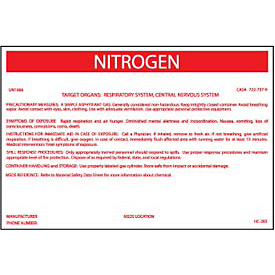HazMat Container Labels - Nitrogen