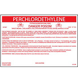 HazMat Container Label - Perchloroethylene
