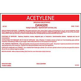 HazMat Container Label - Acetylene