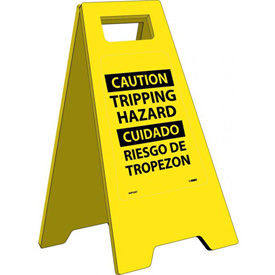 Heavy Duty Floor Stand - Caution Tripping Hazard - Bilingual