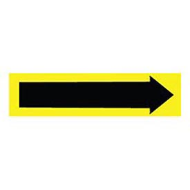 Pressure-Sensitive Pipe Marker - Direction Arrow Yellow, Pack Of 25