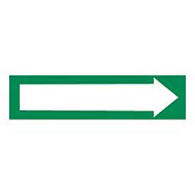 Pressure-Sensitive Pipe Marker - Direction Arrow Green, Pack Of 25