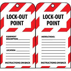 Lockout Tags - Lock-Out Point
