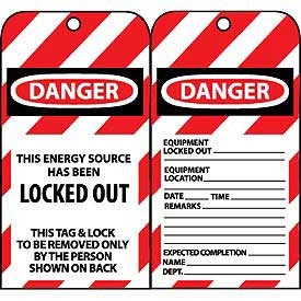 Lockout Tags - This Energy Source Has Been Locked Out